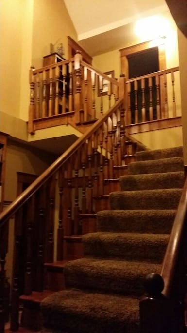 Up the stairs to your private room