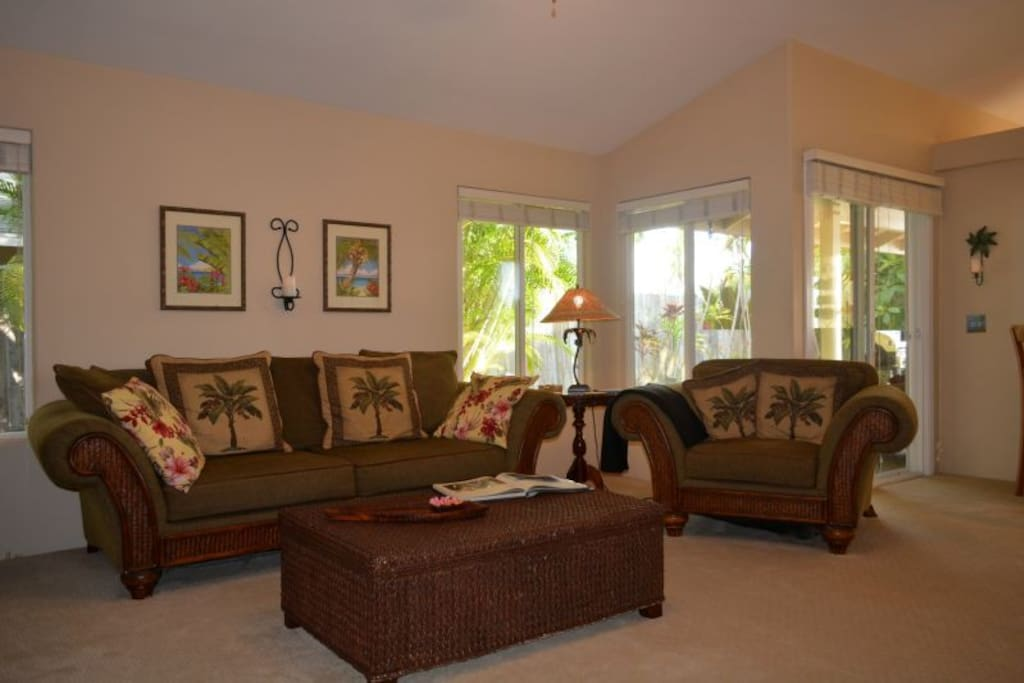 Couch and overstuffed chair - Tommy Bahama Furniture