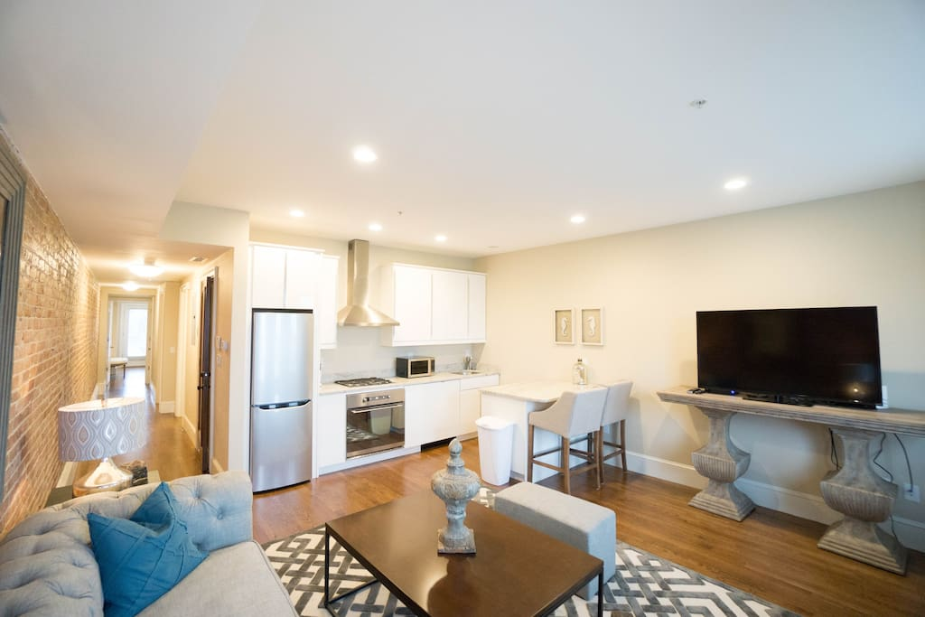 Apt #2 - Living Room / Kitchen