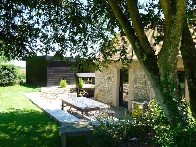 Gîte les Buis 8 pers avec piscine et spa - Angles-sur-l'Anglin - House