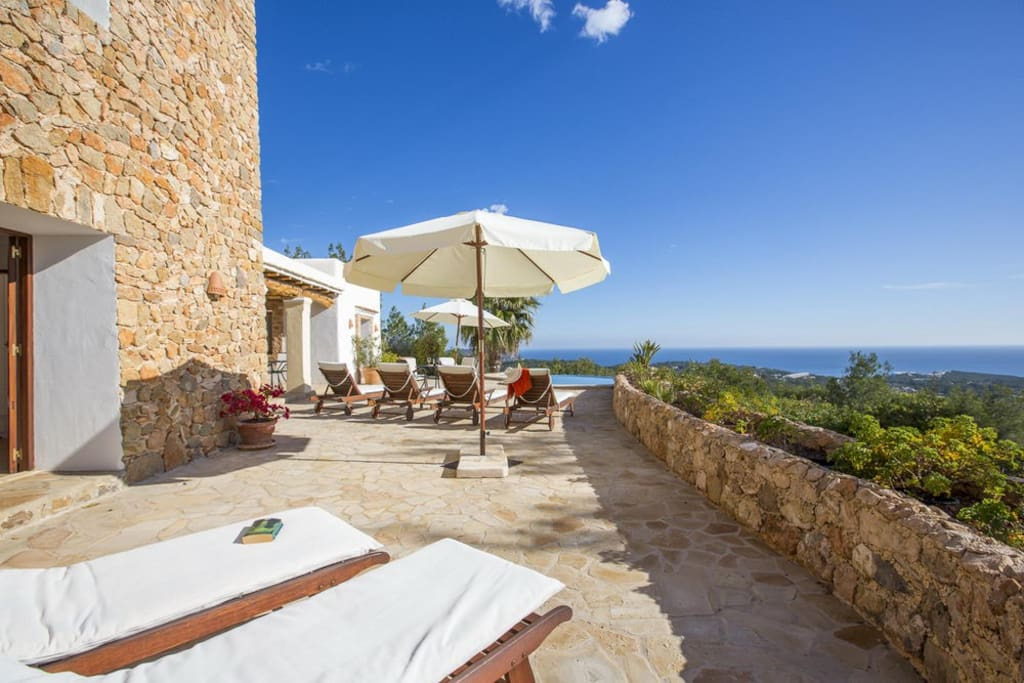 panoramic sea view villa with pool can morna 2 houses for rent in santa eul ria des riu. Black Bedroom Furniture Sets. Home Design Ideas