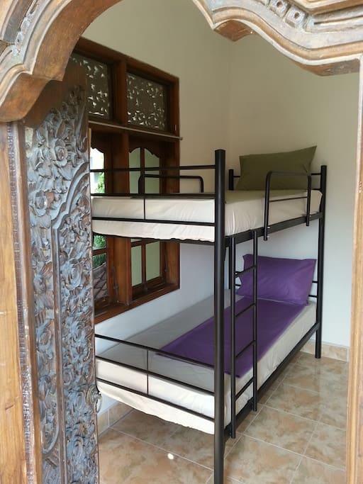 2 people Balcony bunk dorm