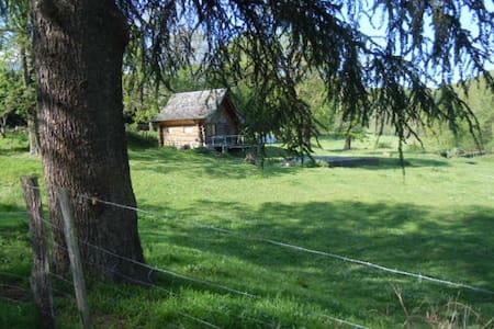 chalet en rondins rustique, équipé - Courniou - Alpstuga