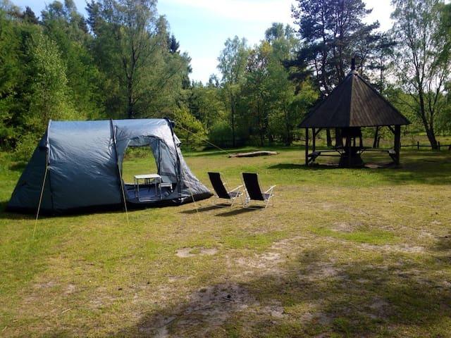 Tält i Snogeholms strövområde - Sövde - Tent