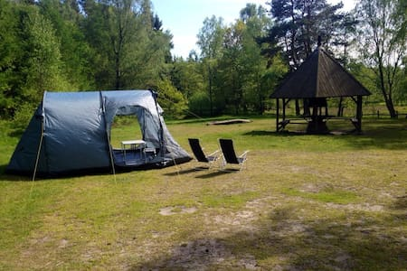 Tält i Snogeholms strövområde - Sövde