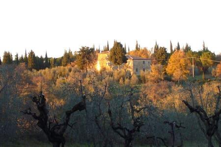 Casa Colombaia, in the Chiantishire - Chianti, Tavarnelle Val di Pesa, San Donato in Poggio - Villa
