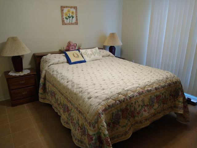 New Queen mattress with memory foam topper