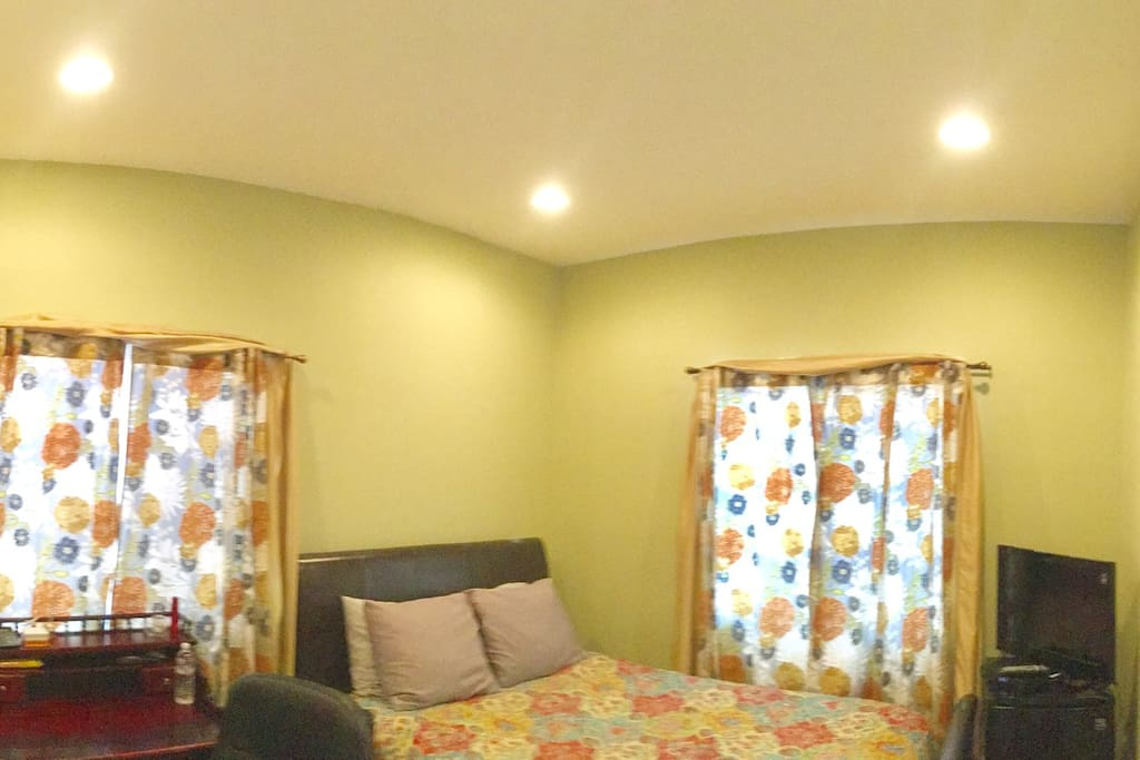 Here's is a wide view of this well-appointed homey and intimate room.