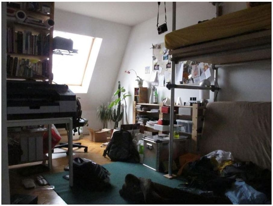 My room, quite messy but I'll clean up for your visit!