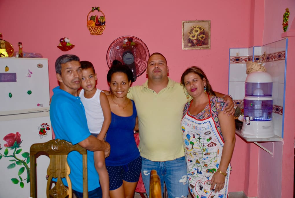 my dad Pedro,Anthony my brother,Ari my aunt and Vivian.