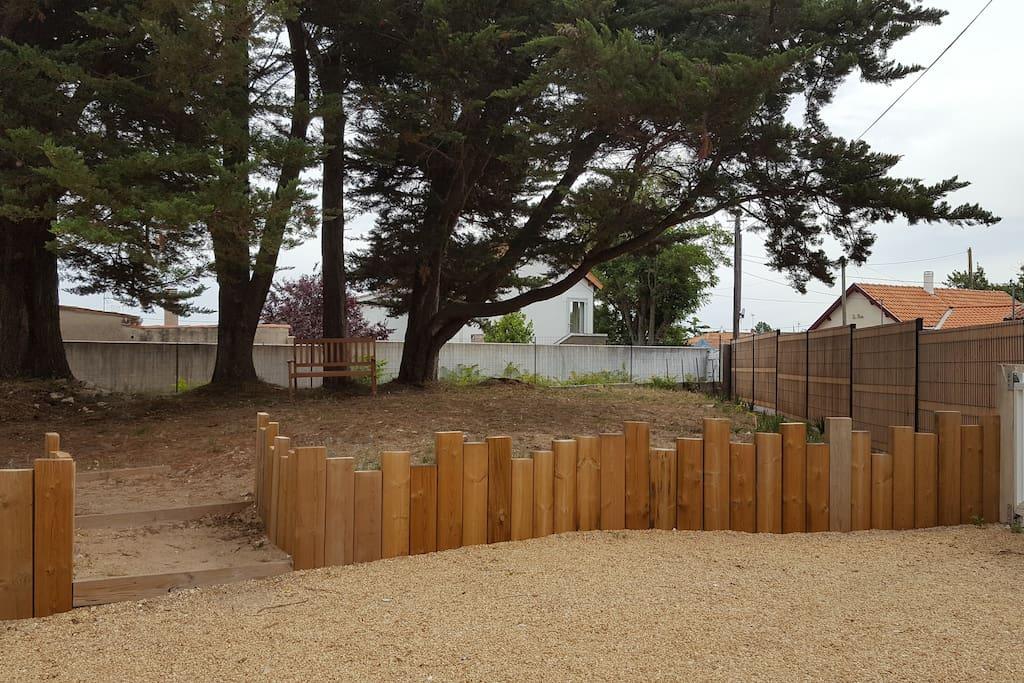Jardin paysagé sans vis à vis