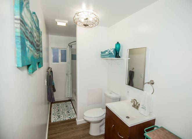 Brand new bathroom, tub shower combination