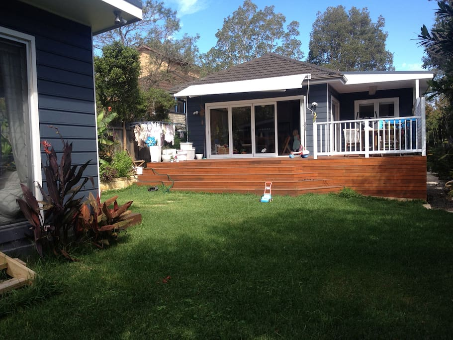 Child Friendly Backyard - we now have a fenced pool too, next to the Summerhouse