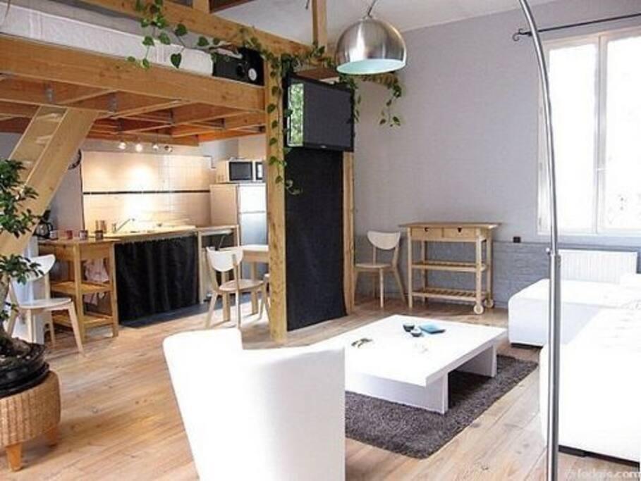 Beau duplex 50m calme et lumineux appartements louer for Appartement atypique saint ouen