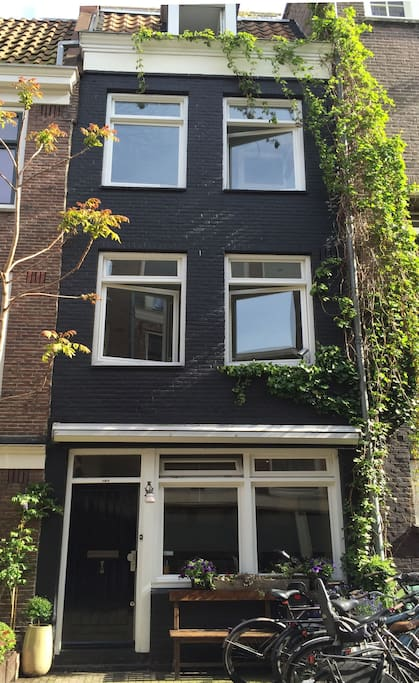 The house is a typical 5 story Amsterdam family home.