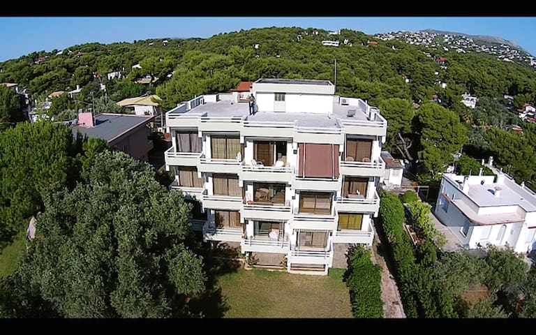 Beautiful sea view apartment 48m,3rd floor - Rafina - Daire