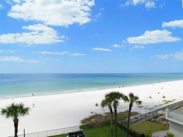 Quiet Stretch of Indian Shores Beach - Direct Beach Front Balcony Gulf Views for Miles - Free Wifi - #403 The Shores Condo