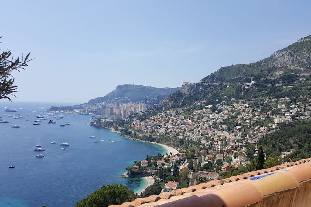 View over Monaco from terrasse
