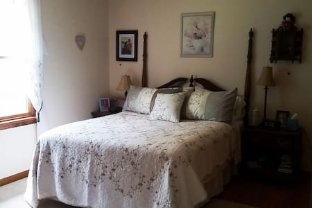 Queen Bed in Private Room 8 miles from Firefly - Dover