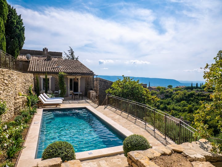 Home In Gordes Village With Private Heated Pool