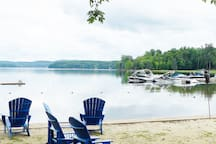 Access to Private Cottagers beach 5 minutes from cottage