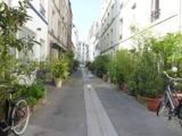 chambre dans passage typique du 11è - Paříž - Byt
