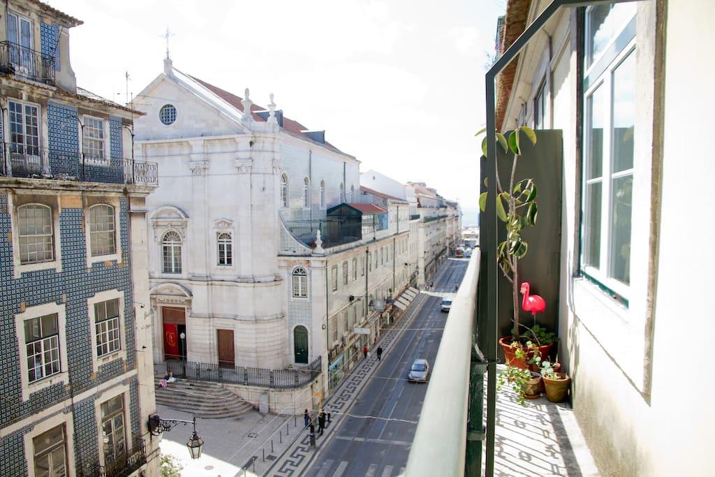 Balcony with a view of the São Nicolau Church