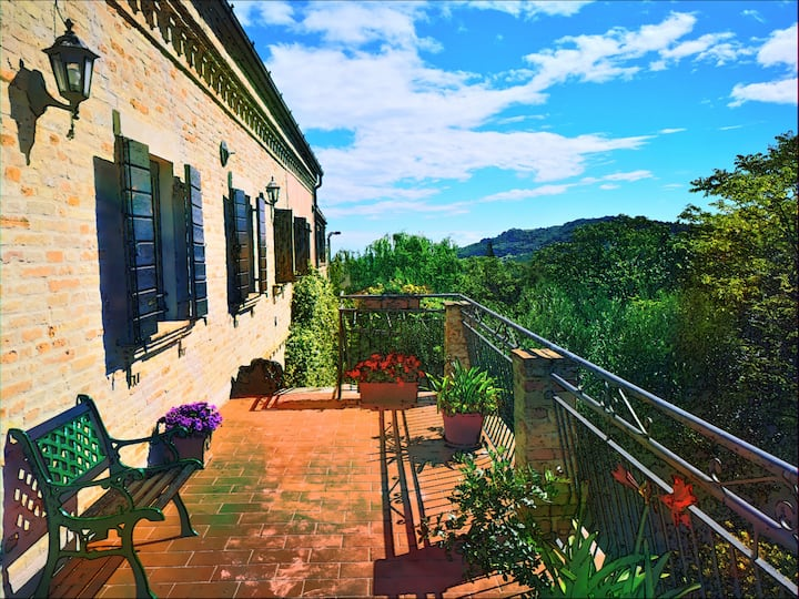 Casa sul colle3 bedroom apt with enchanting views.