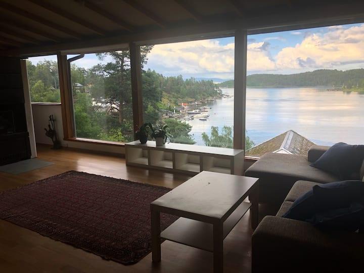 Hus med fantastisk sjøutsikt på Nesøya, Asker