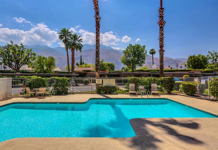 Eclectic, dog-friendly condo w/ gated entrance, community pool, & private grill