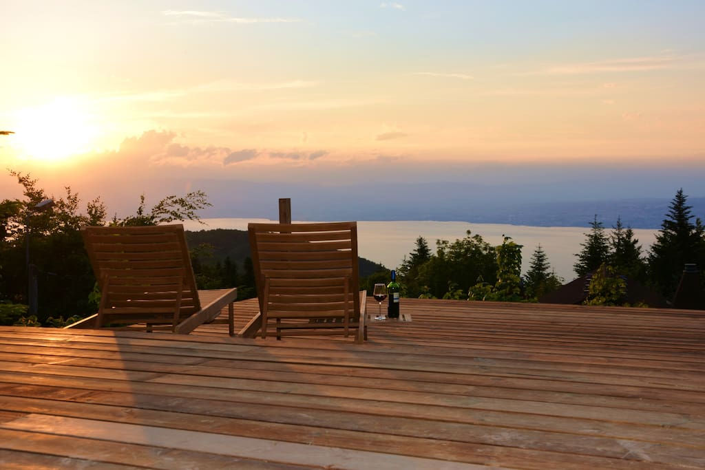 Relax on one of three terraces, with panoramic views and sunsets