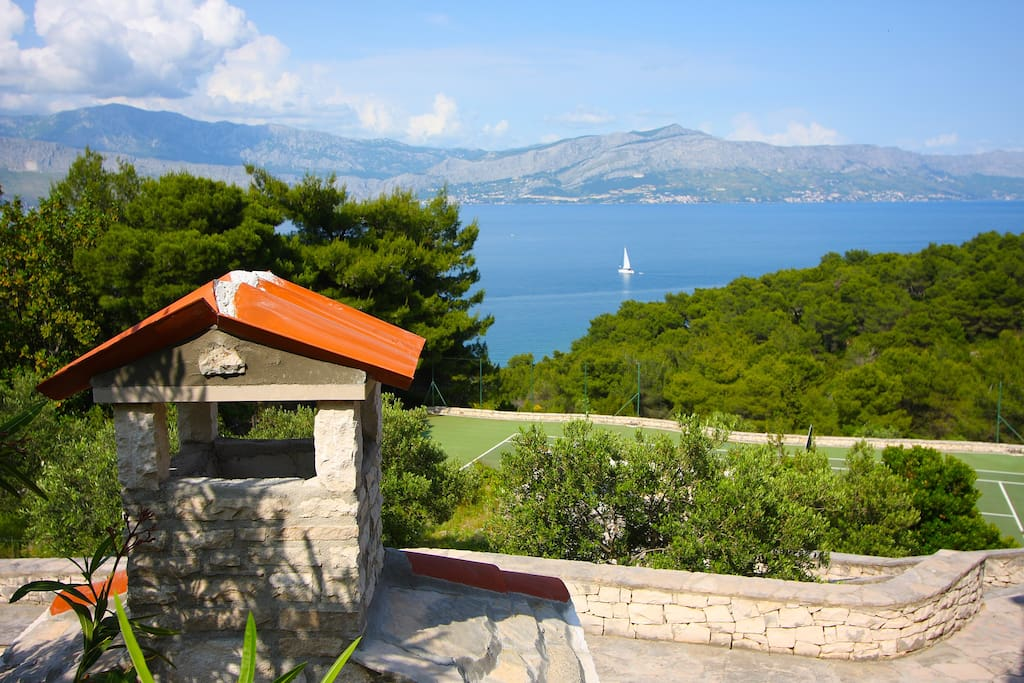 The most beautiful sea view in the world, come and see for yourself  (Sea View; Tennis Court)