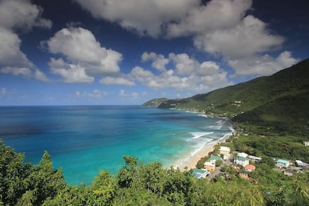 Cottage overlooking Apple Bay surf - Tortola