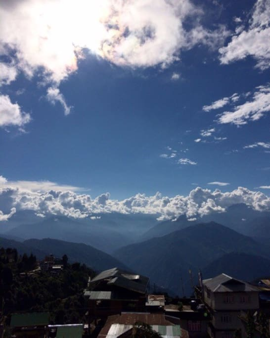 The view from the rooms. Overlooking the entire western Sikkim.