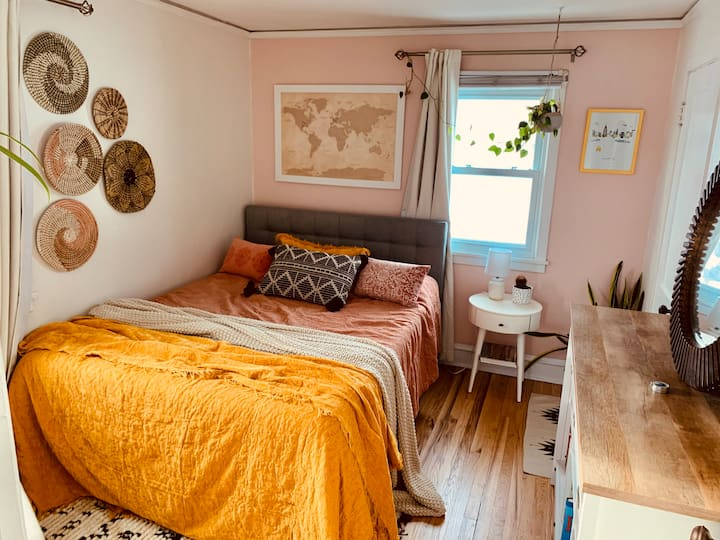 Sunny Bedroom in a Cozy East Side House