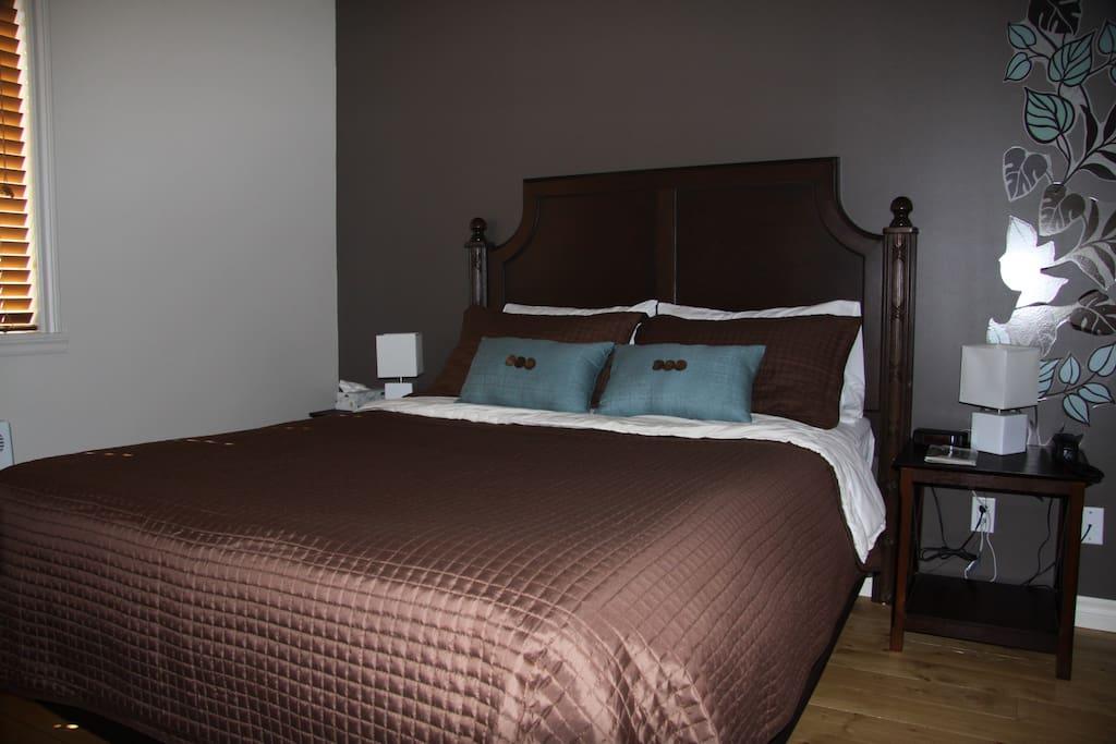 Des lits comme à l'hôtel.