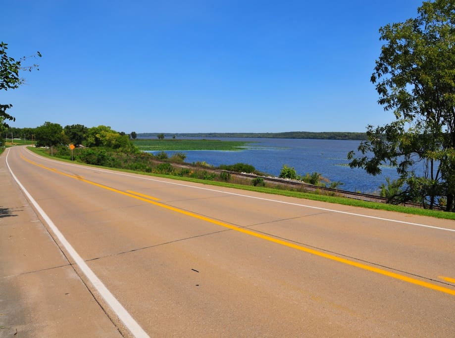 Mississippi River Road is just a short walk from your rental and a beautiful place to walk or ride a bike.  This was taken just a short distance from our driveway.