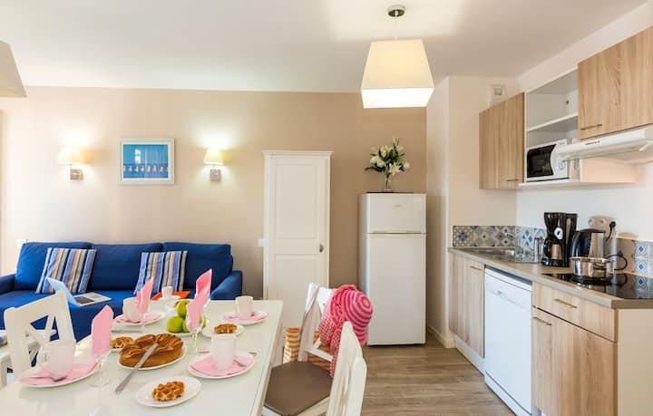 Bel Appartement près de la plage, avec Kitchenette et Wi-Fi Gratuit !