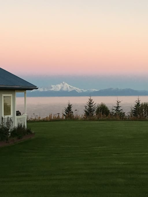 View from bungalow across Cook Inlet