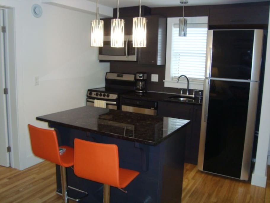 Eating bar with granite counter tops