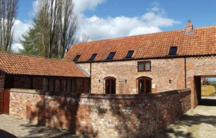 Double bedroom in converted barn.