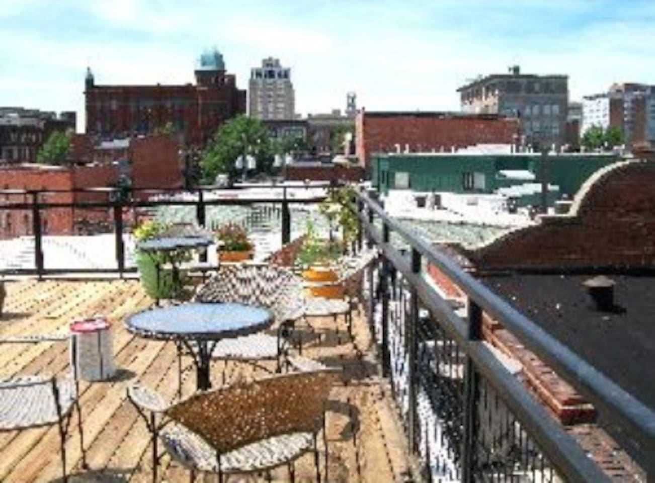 Accessibly rooftop deck and view
