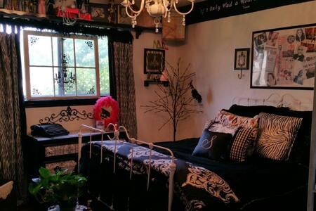 Cozy home with unique decor.
