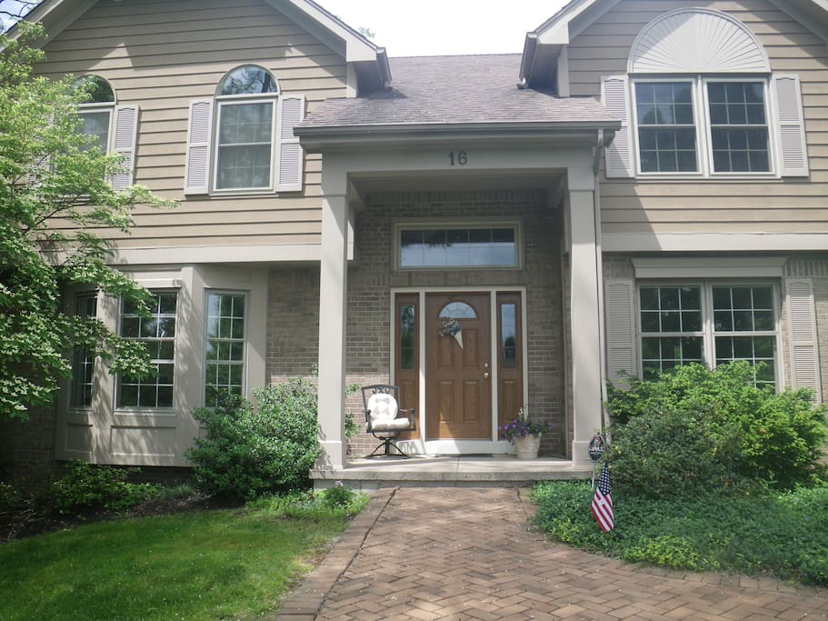 Welcoming front entrance with porch.