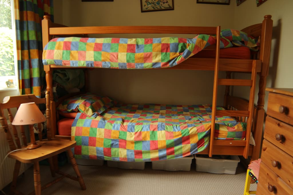Bunk Bed Sleeps 2 . Listed separately .