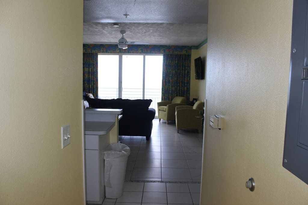 looking into the living area of the A side from the entry hallway.