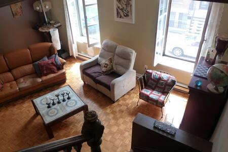 Village-2 floors-Nice Large Room--Terrace - Apartemen