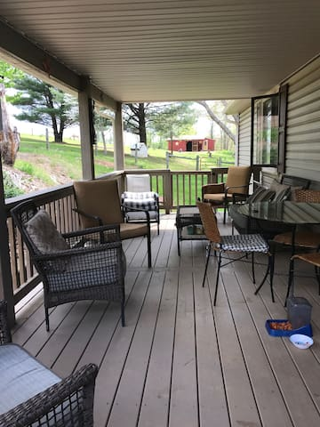 Shared porch/patio with main house - guests can use.
