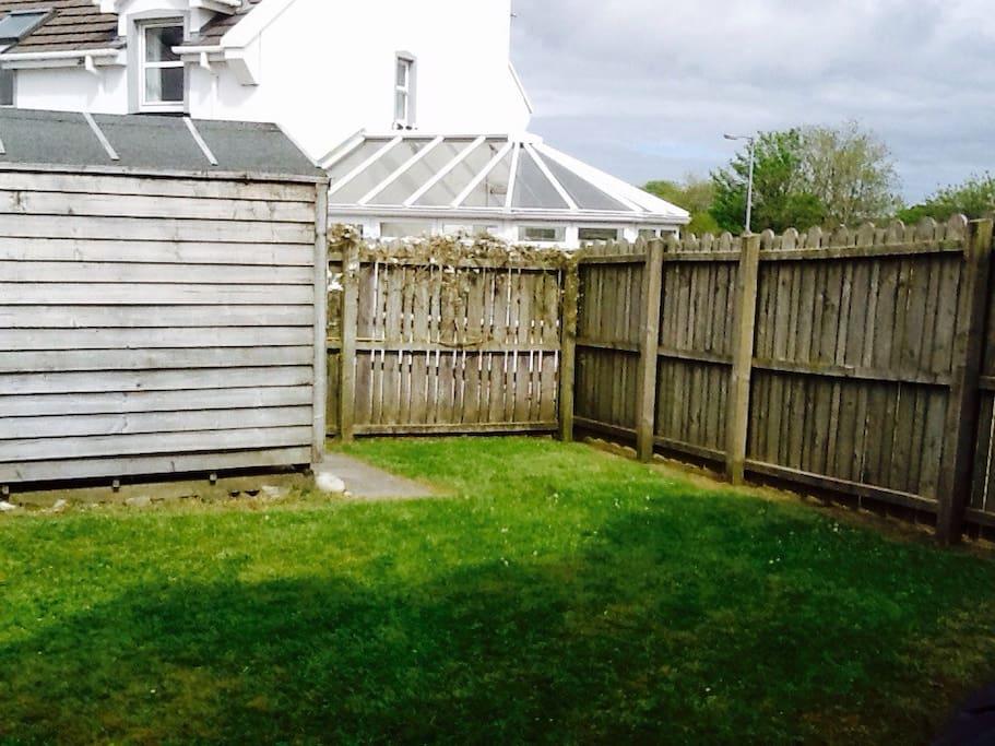Fully enclosed back garden