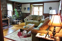 Cozy up in the family room with a book or cable TV